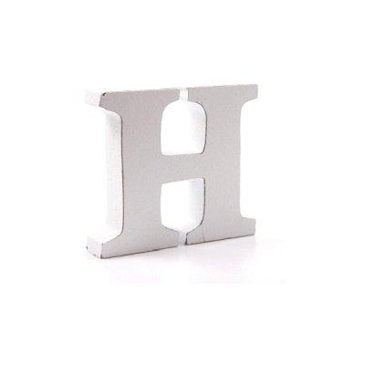 Litera dekoracyjna mała - H - biała