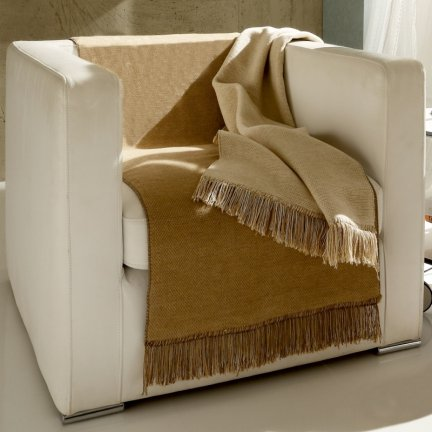 Narzuta Bocasa Cotton Cover Salt & Pepper - narzuta na fotel - 4 kolory