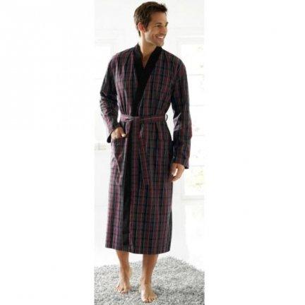 Szlafrok Bugatti Kimono Gino - czerwono-szary