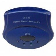 USB (2.0) przełącznik, 2:1, 2x B socket/1x A socket,mechaniczny, 2x LED dioda (PC1-PC2)