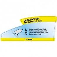 Logo, papiery i folie, zestaw kreatywny, A4 + 10x15cm, 5 arkusza, do drukarek atramentowych, L