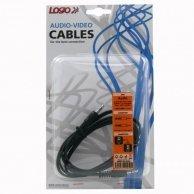 Audio Kabel Jack(3,5mm)-Jack(3,5mm), M/M1.5m, Logo