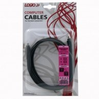 FireWire kabel IEEE 1394, 4pin-4pin, M/M, 2m, Logo, blistr