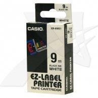 Casio taśma do drukarek etykiet, XR-9WE1, czarny druk/biały podkład, nielaminowany, 8m, 9mm