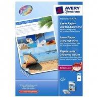 Avery Zweckform Laser Papier Premium, foto papier, wysoki połysk, biały, A4, 200 g/m2, 100 szt., 2798, laser