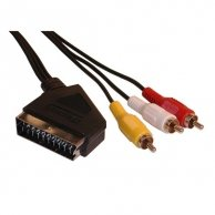 Audio/video kabel Scart-Cinch(3x), M/M 1.5m