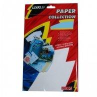 Logo etykiety na CD 78mm x 55mm, A4, matowe, białe, 8 etykiety, CD-R card, 140g/m2, pakowany po 25 szt., do drukarek atramentowych