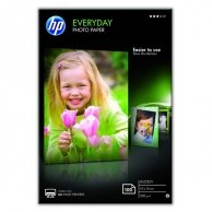 HP Everyday Photo Paper, Glossy, foto papier, połysk, biały, 10x15cm, 4x6, 200 g/m2, 100 szt., CR757A, atrament