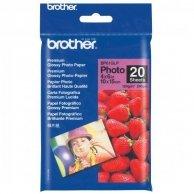 Brother Premium Glossy Photo Pa, foto papier, połysk, biały, 10x15cm, 4x6, 190 g/m2, 20 szt., BP61GLP