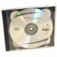 Box na 2 szt. CD, przezroczysty, czarny tray, No Name, 10,4 mm, 200-pack