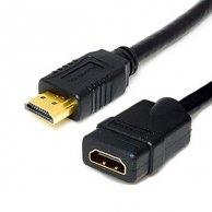 Audio/video kabel HDMI-HDMI, M/F1m, pozłacane końcówki, No Name