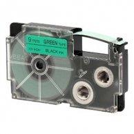 Casio taśma do drukarek etykiet, XR-9GN1, czarny druk/zielony podkład, nielaminowany, 8m, 9mm