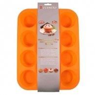 Forma silikonowa, 25 x 33cm, pomarańczowa, 1ks, forma na muffinki