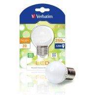 LED żarówka Verbatim E27, 230V, 3,5W, 250lm, ciepła biel, 30000h, 9SMD