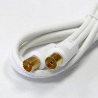 Audio/video kabel Koaxiál-Koaxiál, M/F2m, pozłacane końcówki, No Name