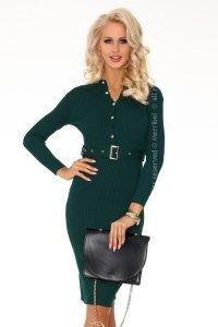 Anselmi Dark Green FX1746 sukienka swetrowa