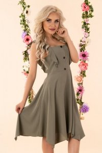 Quellama Khaki D54 sukienka