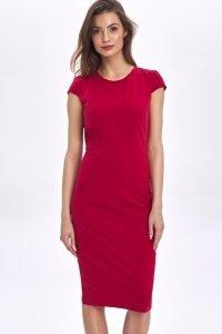 Sukienka z dekoltem na plecach - czerwony - CS49