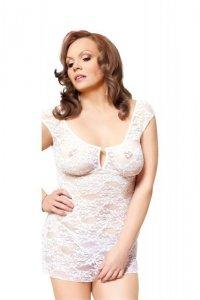 Linley - Plus Size - white 1739 koszulka i stringi