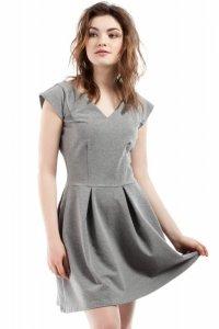 MOE210 sukienka szara