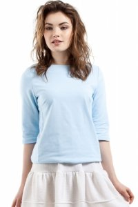 MOE217 bluzka błękitna
