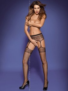 Garter stockings S502 czarne
