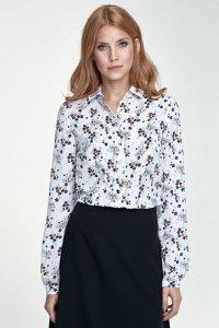 Delikatna bluzka - kwiaty/ecru - B70