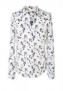 Bluzka z wycięciami - kwiaty/ecru - B71