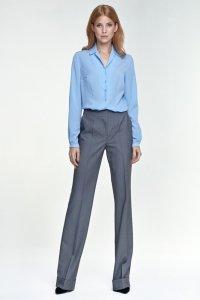 Spodnie z mankietem - szary - SD26