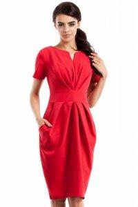 MOE234 Sukienka czerwona