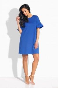 L188 sukienka z falbankami chaber