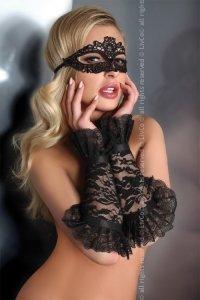 Gloves Black Model 13 LC 28011 rękawiczki