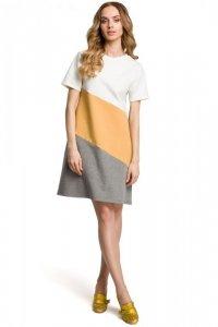 M373 Sukienka 3 kolory żółta