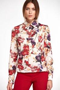 Bluzka z kokardkami - kwiaty - B96