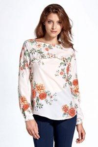 Bluzka cb19 - kwiaty/ecru - CB19
