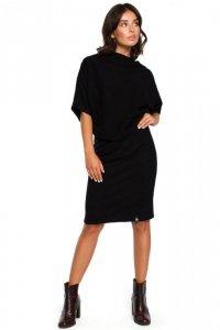 B097 Sukienka z luźną górą i wąskim dołem - czarna