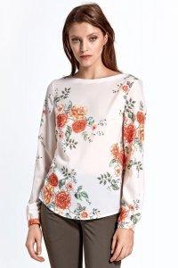 Bluzka cb20 - kwiaty/ecru - CB20