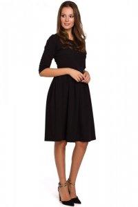 K010 Sukienka rozkloszowana - czarna