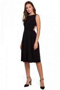 K011 Sukienka z odkrytymi plecami - czarna
