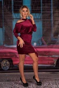 Milona Maroon 0112 sukienka