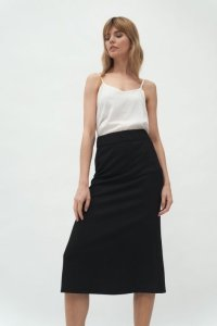 Czarna spódnica midi - SP60