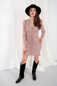 Sukienka L332 capucino
