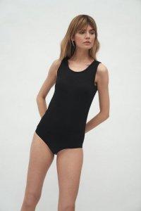 Czarna bluzka body - B132