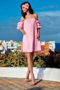 1 Sukienka  L252 pudrowy róż PROMO