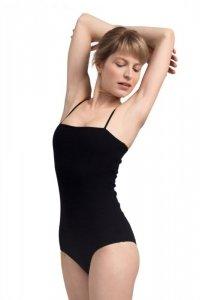 LA063 Body na cienkich ramiączkach - czarne
