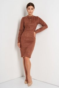 Sukienka L393 czekolada