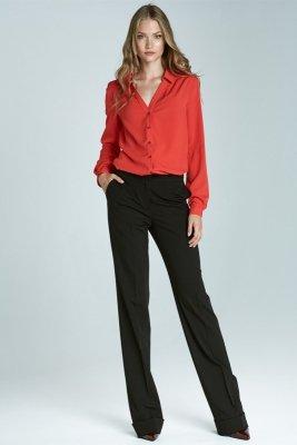 Spodnie bootcut - czarny - SD21