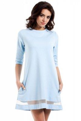 MOE219 Sukienka błekitna