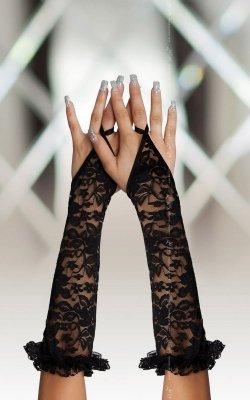 Gloves 7708 - black rękawiczki