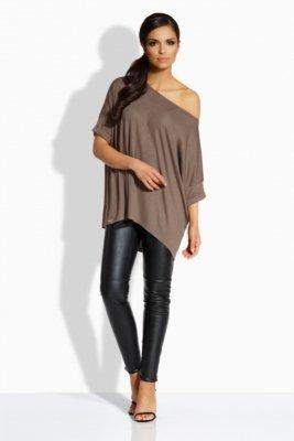 L205 Kobieca bluzka w formie nietoperza capucino